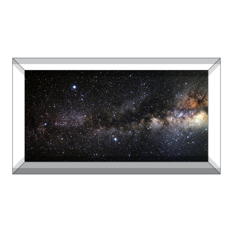 Milky Way Dark Rift Background Aquarium Vinyl