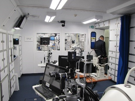 Laser and Examination Room on board the MD-10 aircraft.