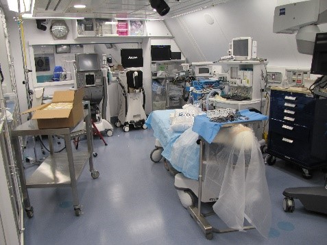 Operating Room on board the MD-10 aircraft.