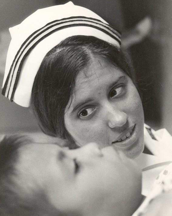 Navy nurse aboard the USS  Sanctuary in the 1960s