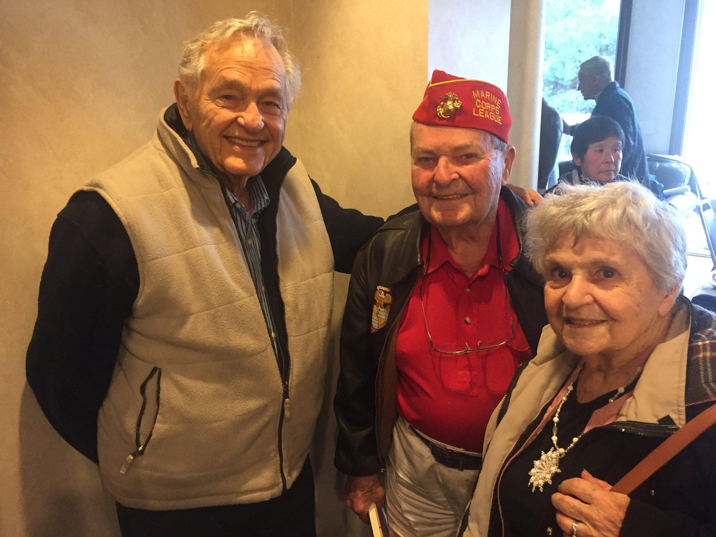 Chief Johnny Johnson with Ed and Lorelie (photo by Companion John Garvey)