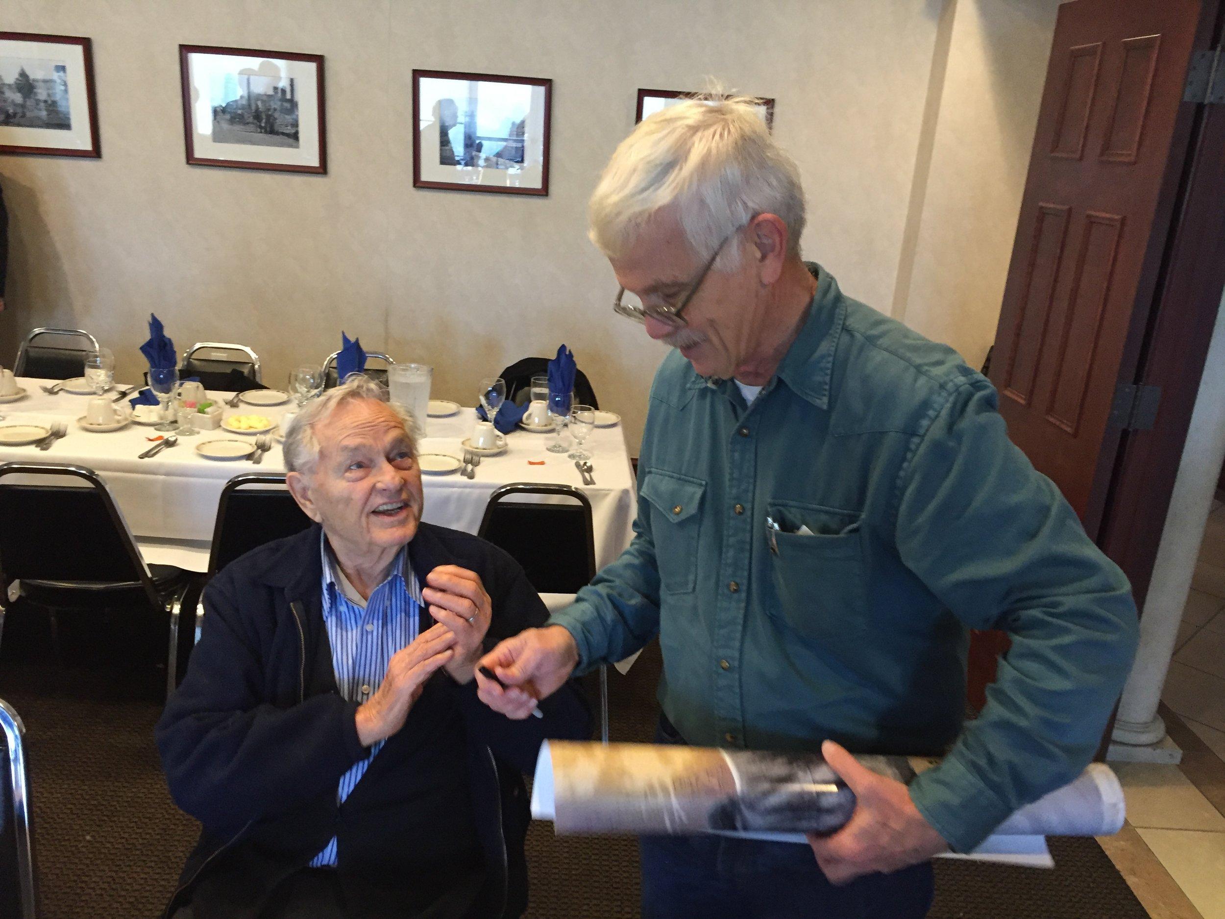 Chief Johnny Johnson with Bob Hansen