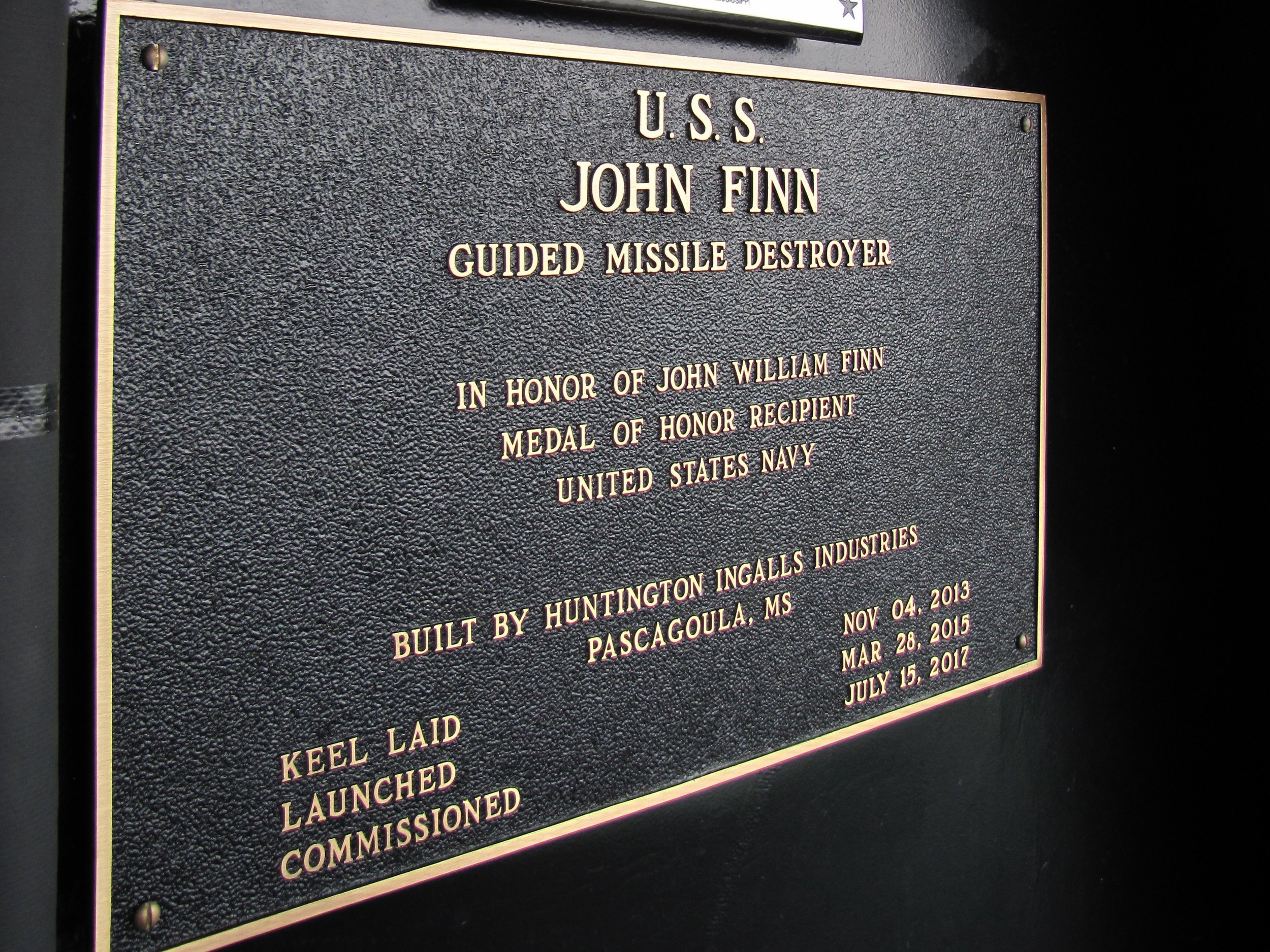 USS-JOHN-FINN_Builders-Plaque
