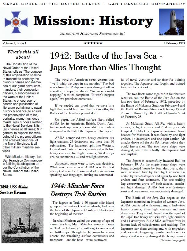 Vol I, Issue 1 - Feb. 99