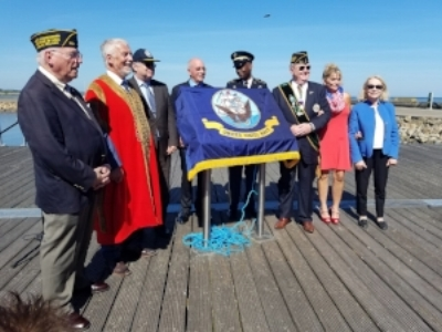 The official party at the unveiling of the historic marker to the US Naval Air Station, Wexford, Ireland.