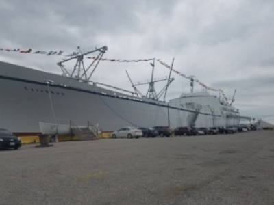 The historic NS  Savannah  is now a display/museum ship in Baltimore Harber