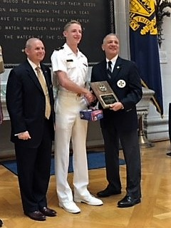 """The Naval Order of the United States Senior Division History Award: Midshipman 3/c Joseph N. McGraw for his paper """"Territorial Claims in the Polar Regions"""""""