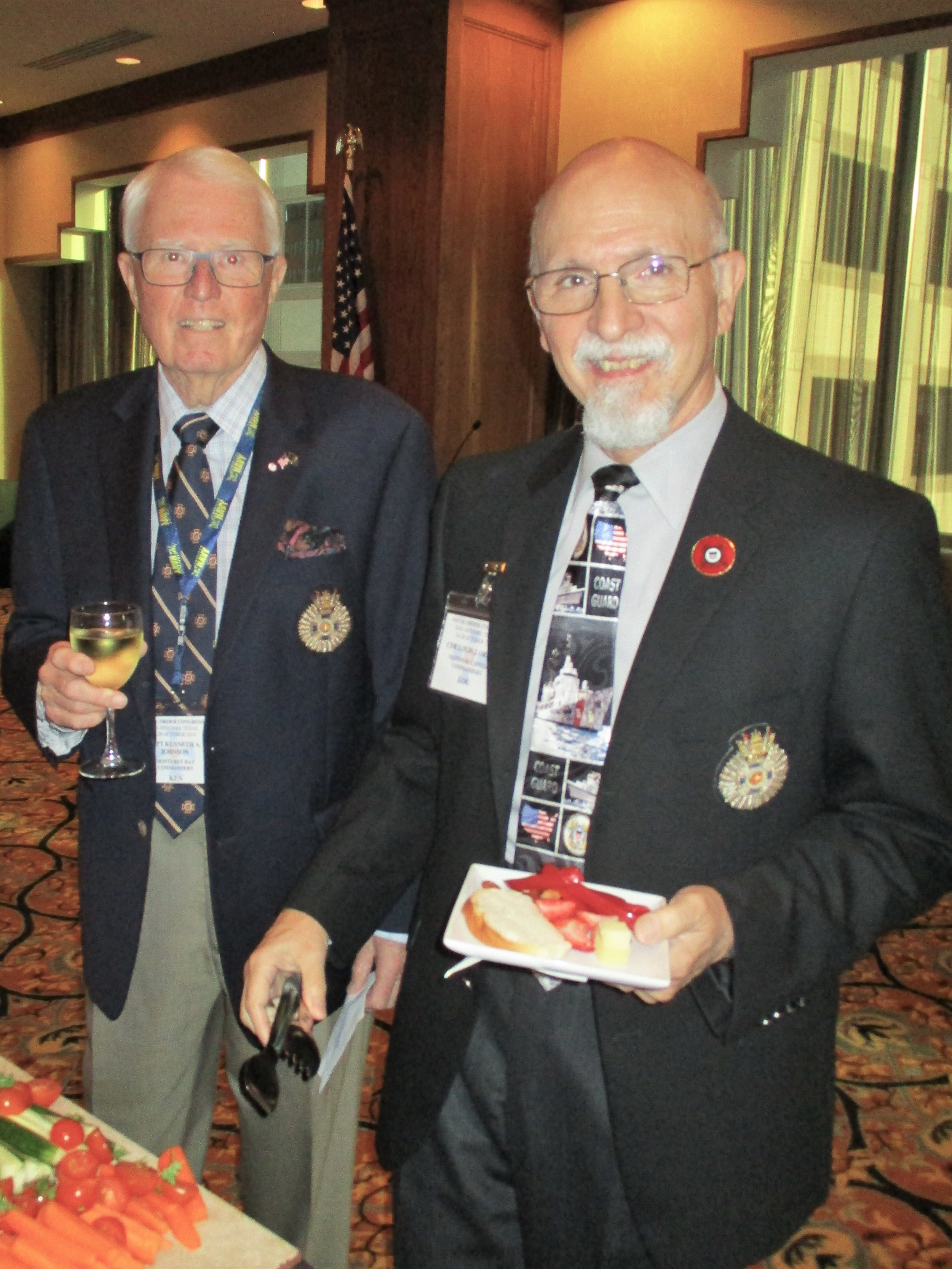 CAPT Ken Johnson and CDR Lou Orsini