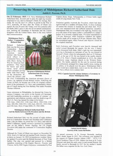 """""""Preserving the Memory of Midshipman Richard Sutherland Dale"""", written by NOUS companion Judith E. Pearson, Ph.D., National Capital Commandery"""
