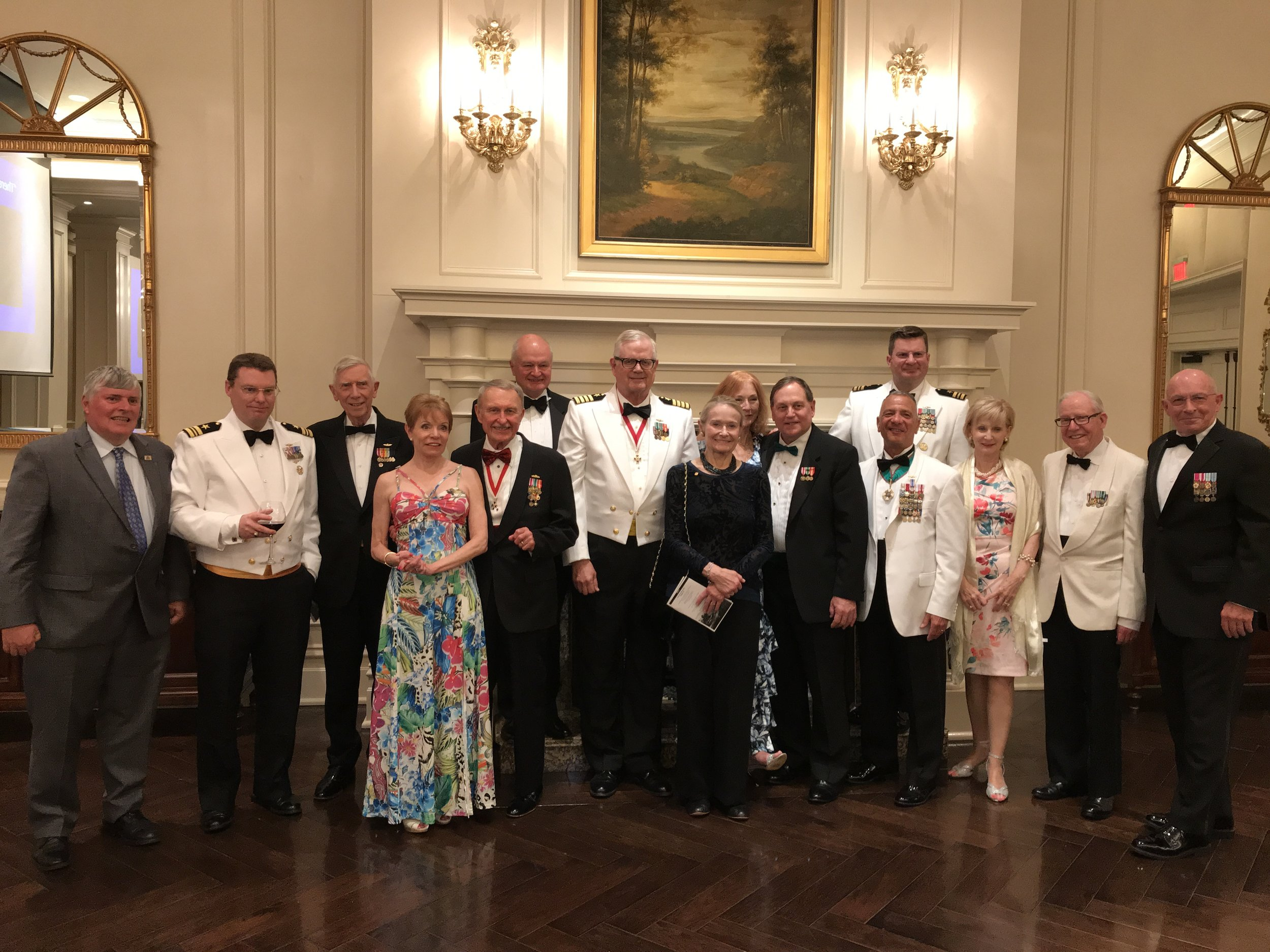National Capital Commandery companions at the Annual Battle of Midway Commemorative Dinner.