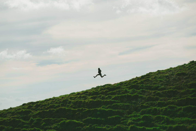 business analyst climbing hill