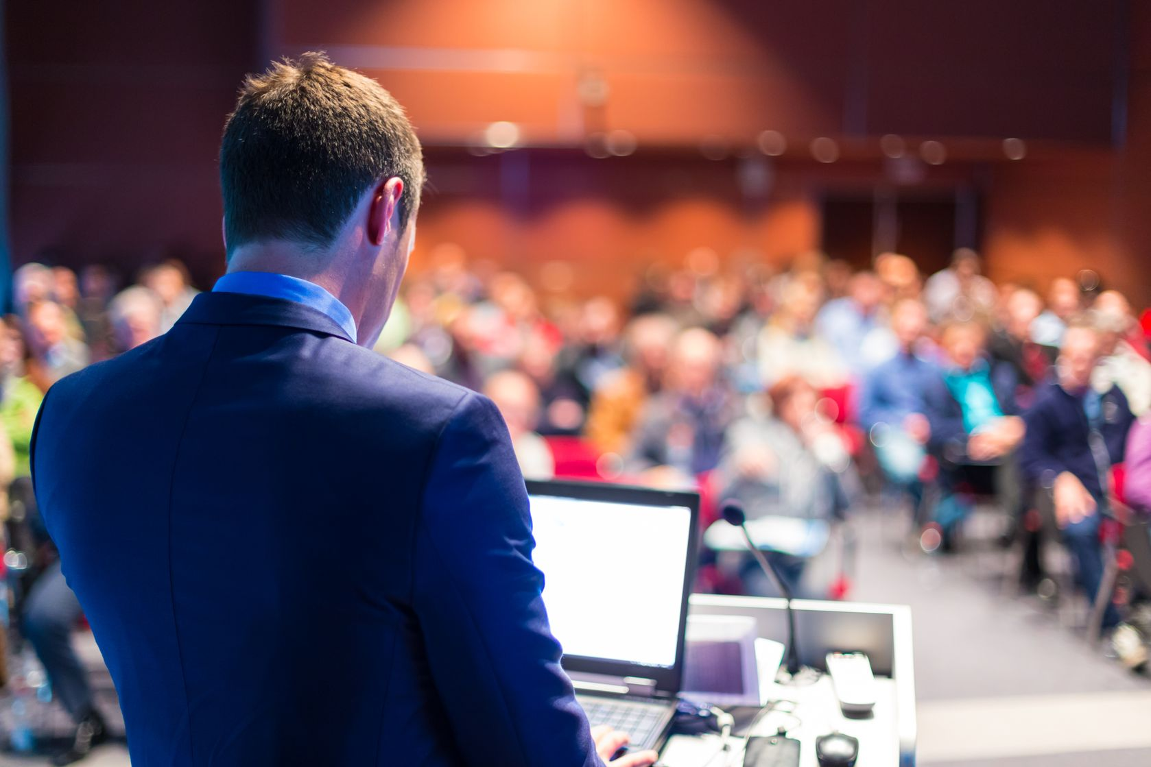 As a Business Analyst, taking the podium to speak is a big step in their career.