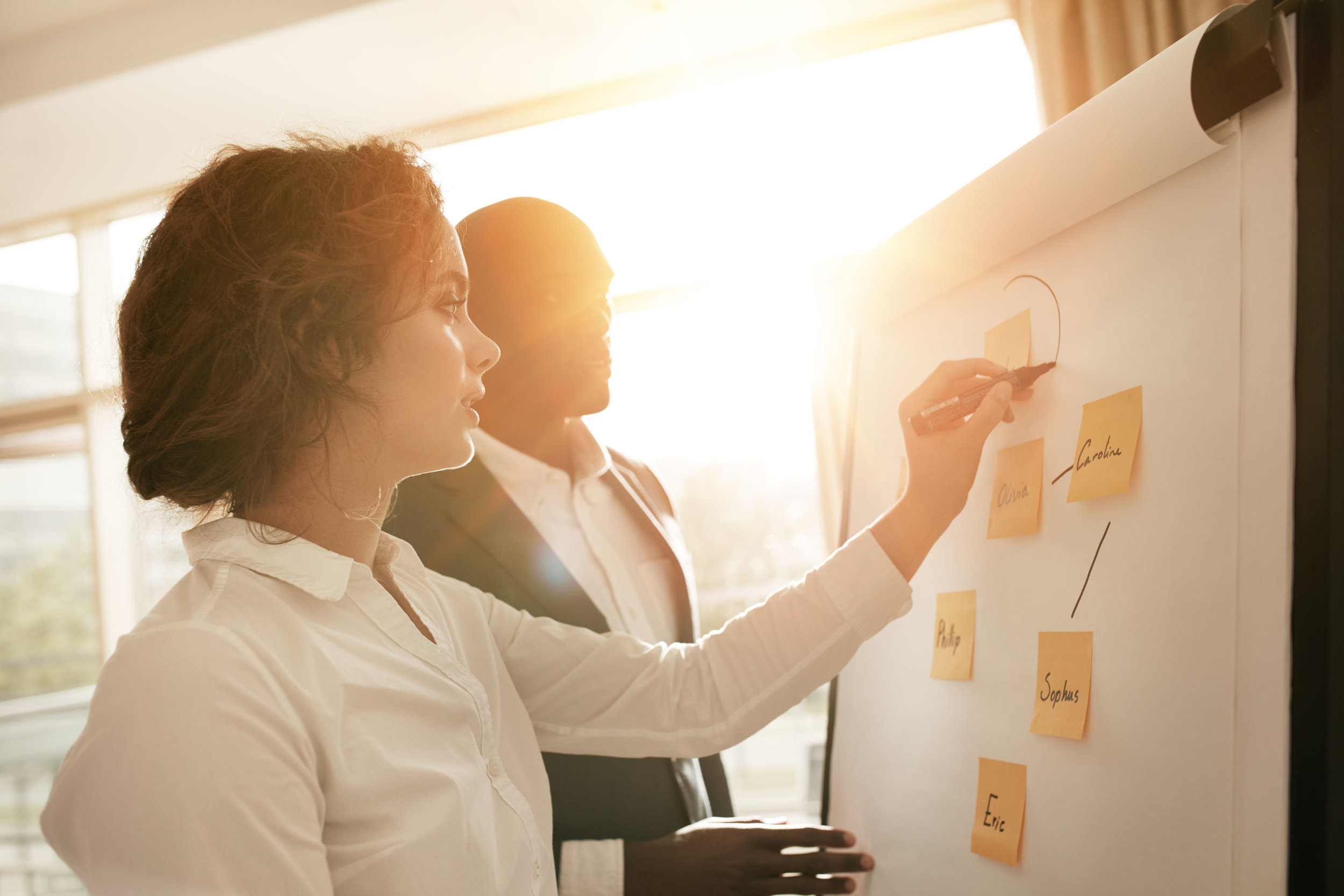Business Analyst in a planning meeting with a Product Owner