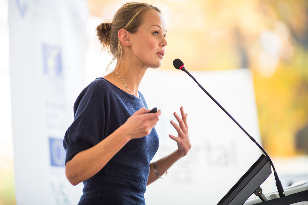 Even though the fear of public speaking is common, being a good public speaker is a skill business professionals should develop.