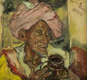 Arab With Jug by Irma Stern  ORIGINAL POST   While thumbing through a recent issue of The Art Newspaper and turned the page to see Arab with Jug by Irma Stern, I was instantaneously and completely awestruck by this painting. I was blown away by the way you can immediately sense the entire life of the man portrayed. Every aspect of the painting—palette, brush strokes, facial expression environment—adds to feeling and understanding the life presented.