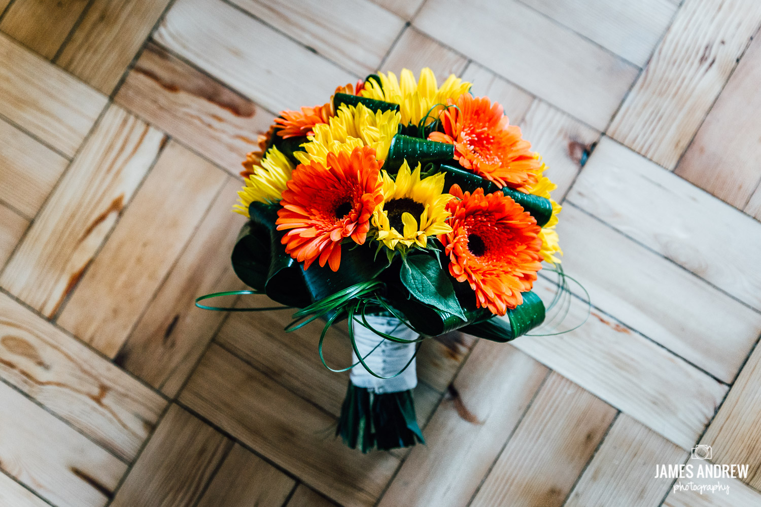 Wedding flowers in Autumn colours