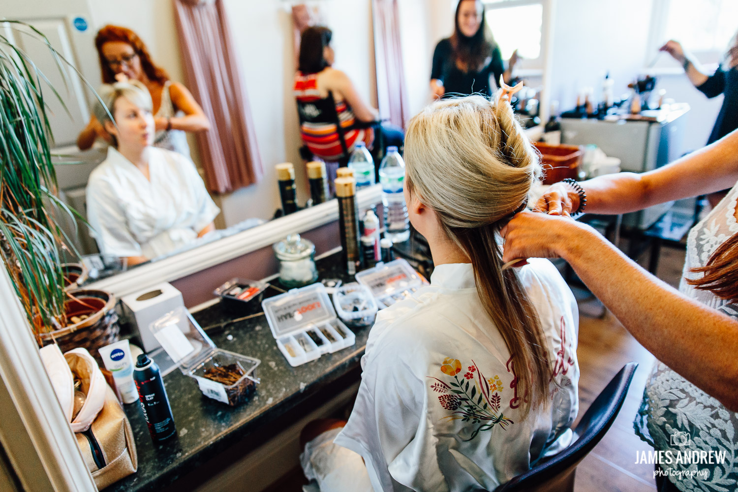 Bride getting ready cheshire