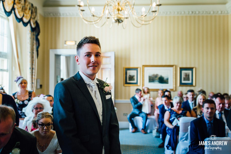 Groom waiting to get married