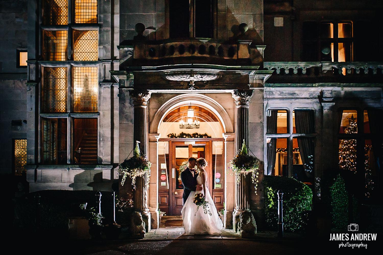 Epic wedding portrait Rookery Hall Cheshire