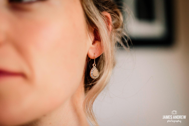 Brides wedding earrings