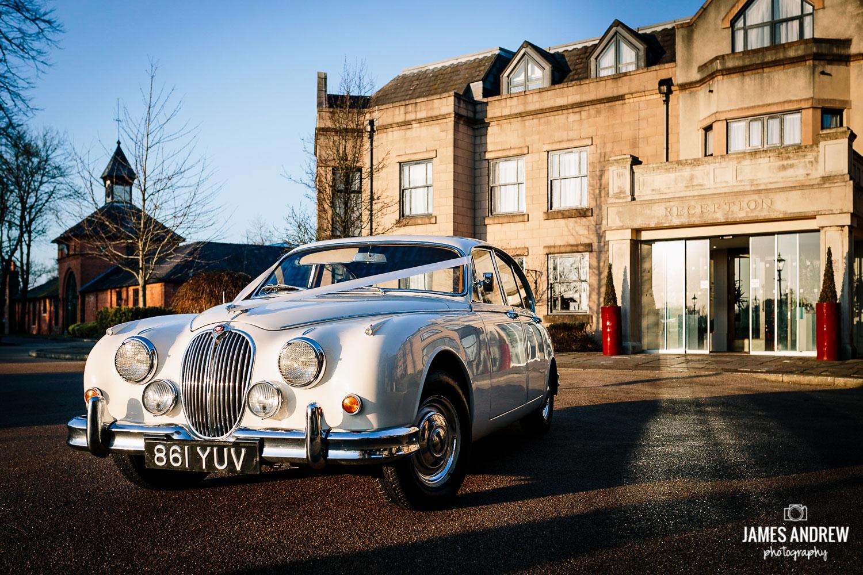Mark 2 Jaguar wedding car white