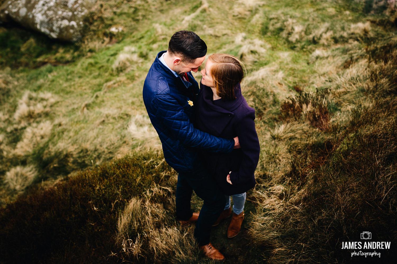 Engaged couple peak district photo shoot