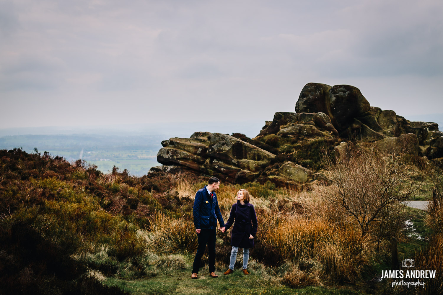 Couple shoot on the roaches Staffordshire