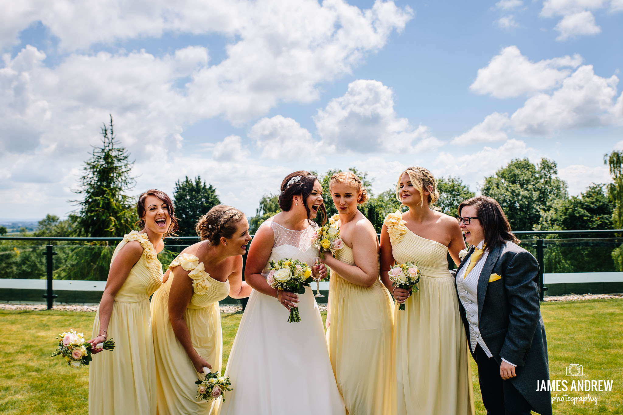 Cheshire bridesmaids summer wedding