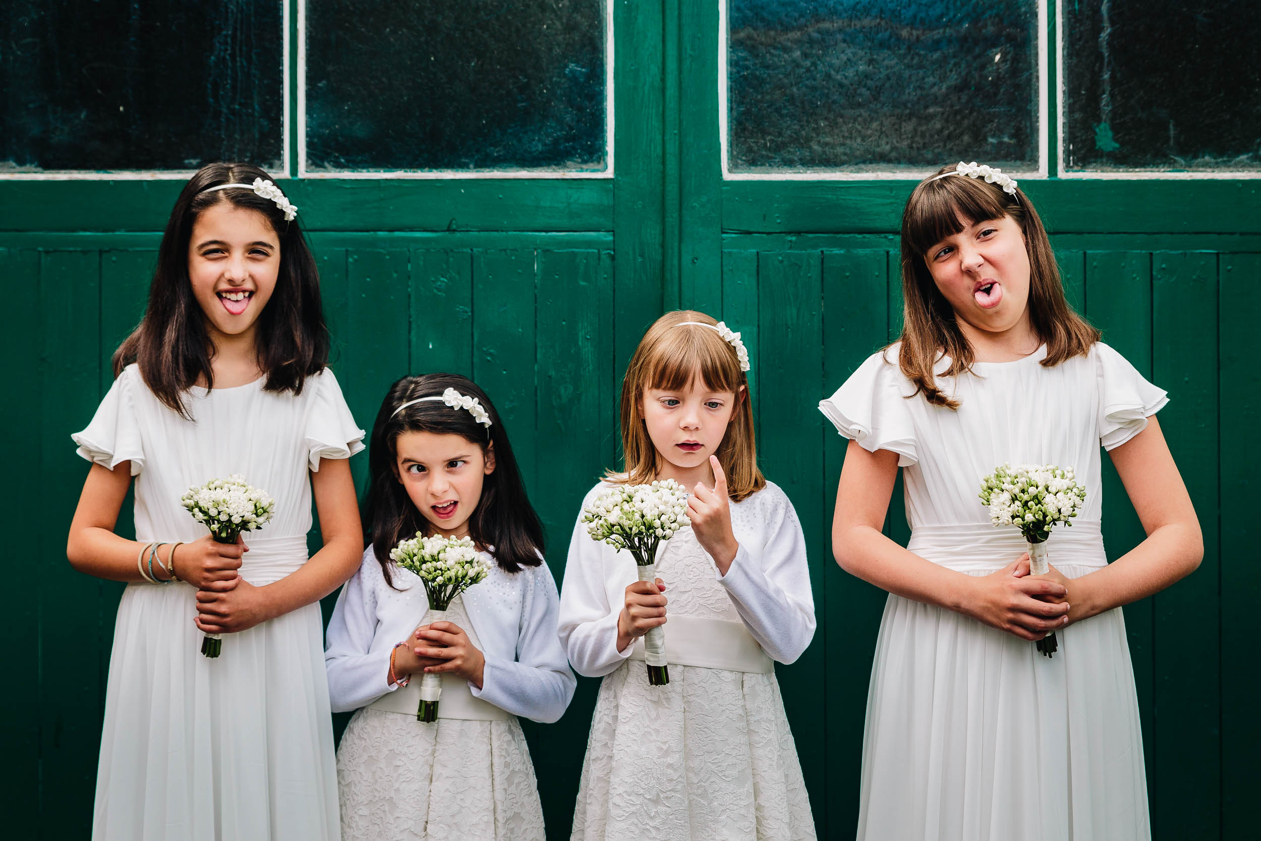 Natural bridesmaids funny documentary Photography Mill Barns Wedding Venue Shropshire