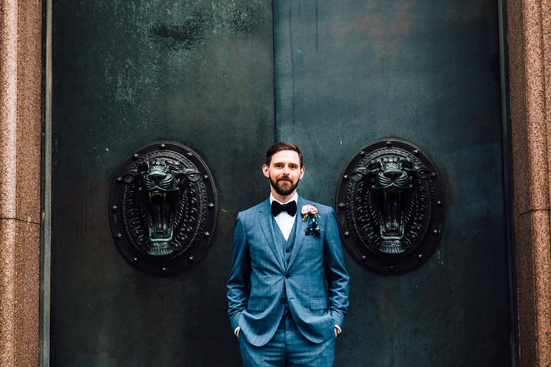 Alternative wedding portrait groom North West