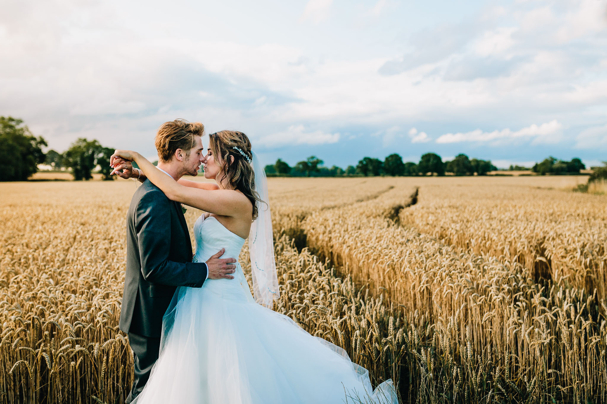 BRIDAL PORTRAIT AT MYTHE BARN WEDDING VENUE LEICESTER