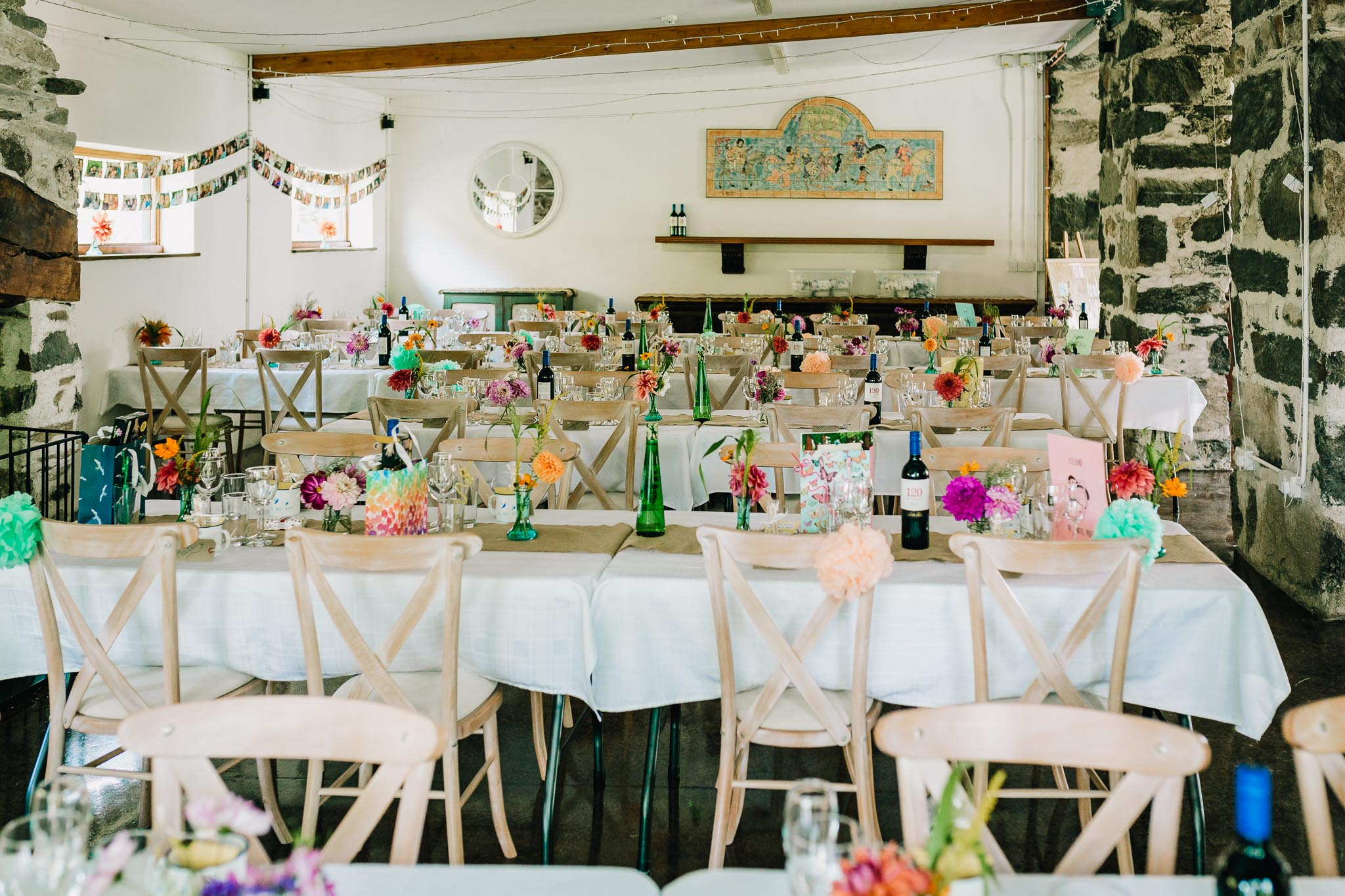RUSTIC BARN WEDDING RECEPTION IN NORTH WALES