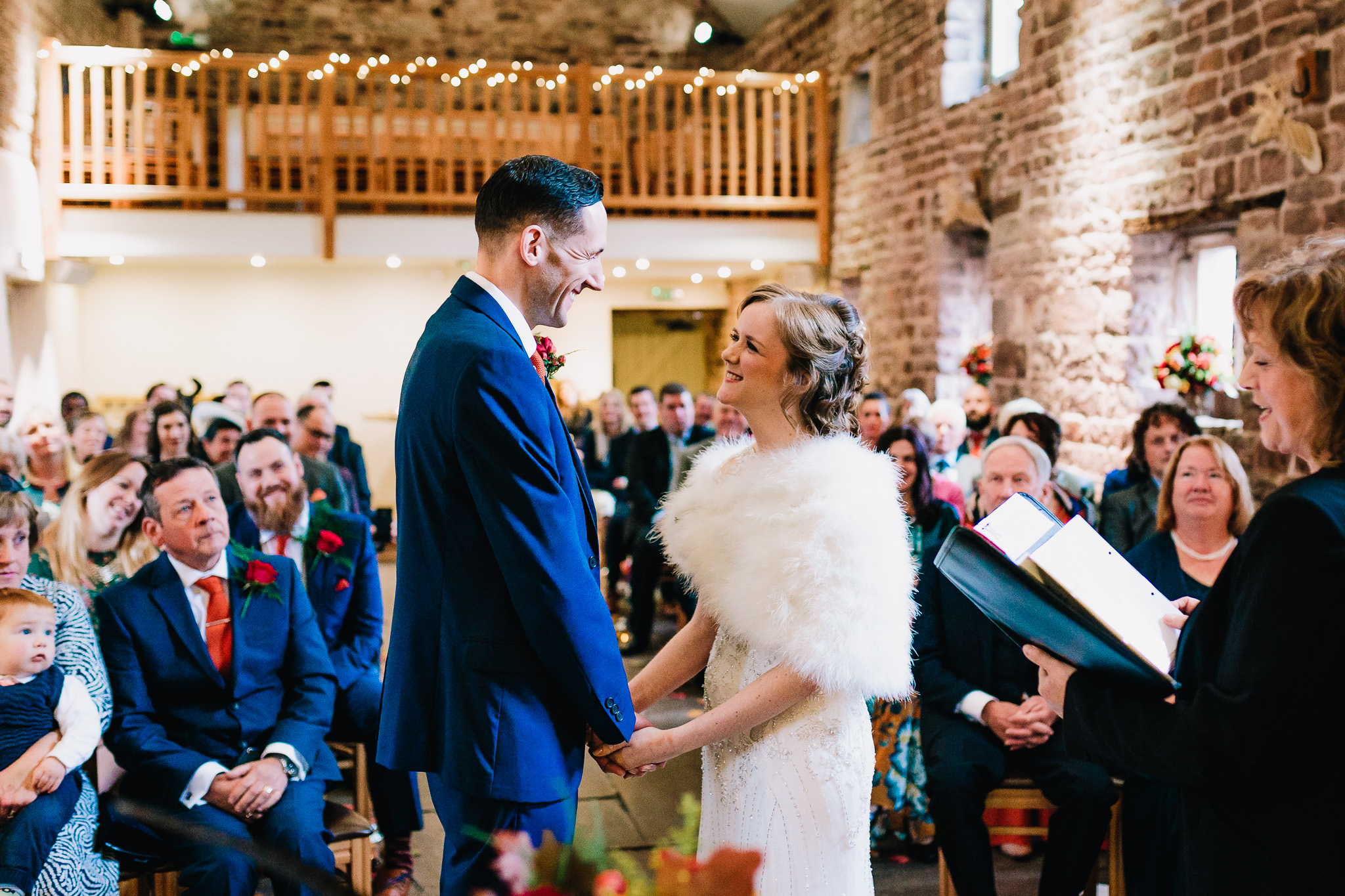 COUPLE GETTING MARRIED AT THE ASHES WEDDING BARNS IN LEEK