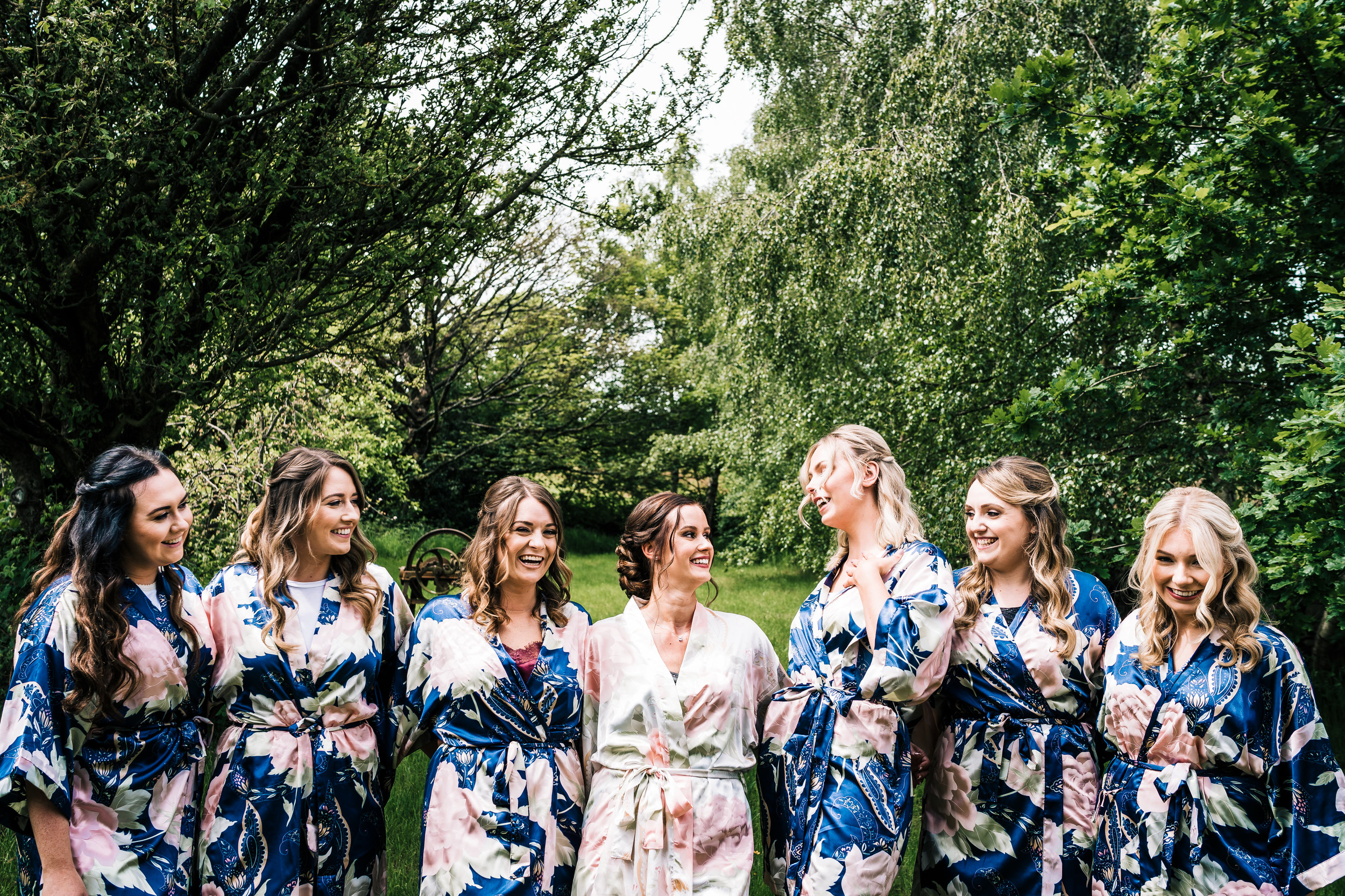 BRIDESMAIDS AT THE ASHES BARNS WEDDING VENUE STAFFORDSHIRE