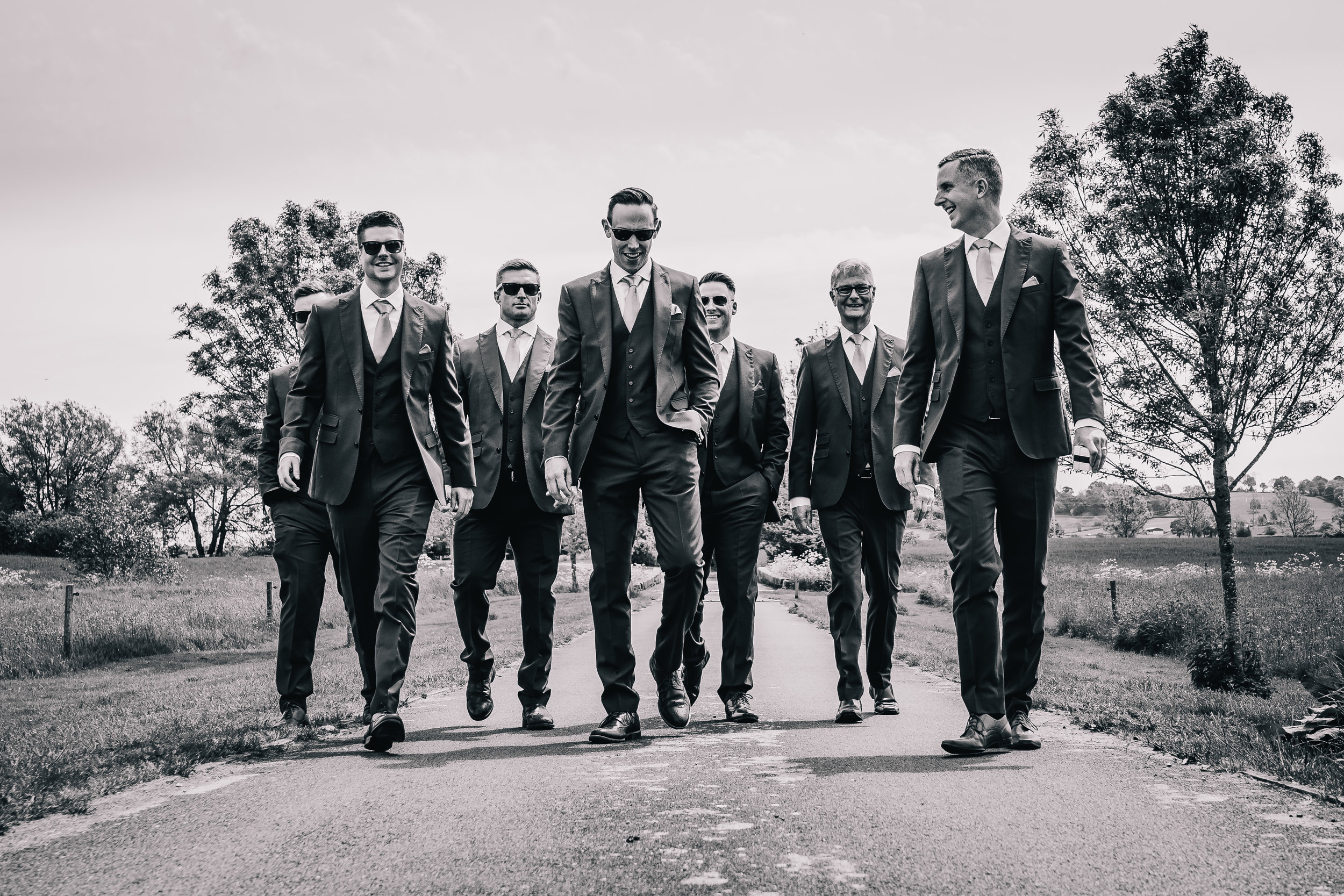 RESERVOIR DOGS GROOMSMEN PICTURE BLACK AND WHITE IN STAFFORDSHIRE
