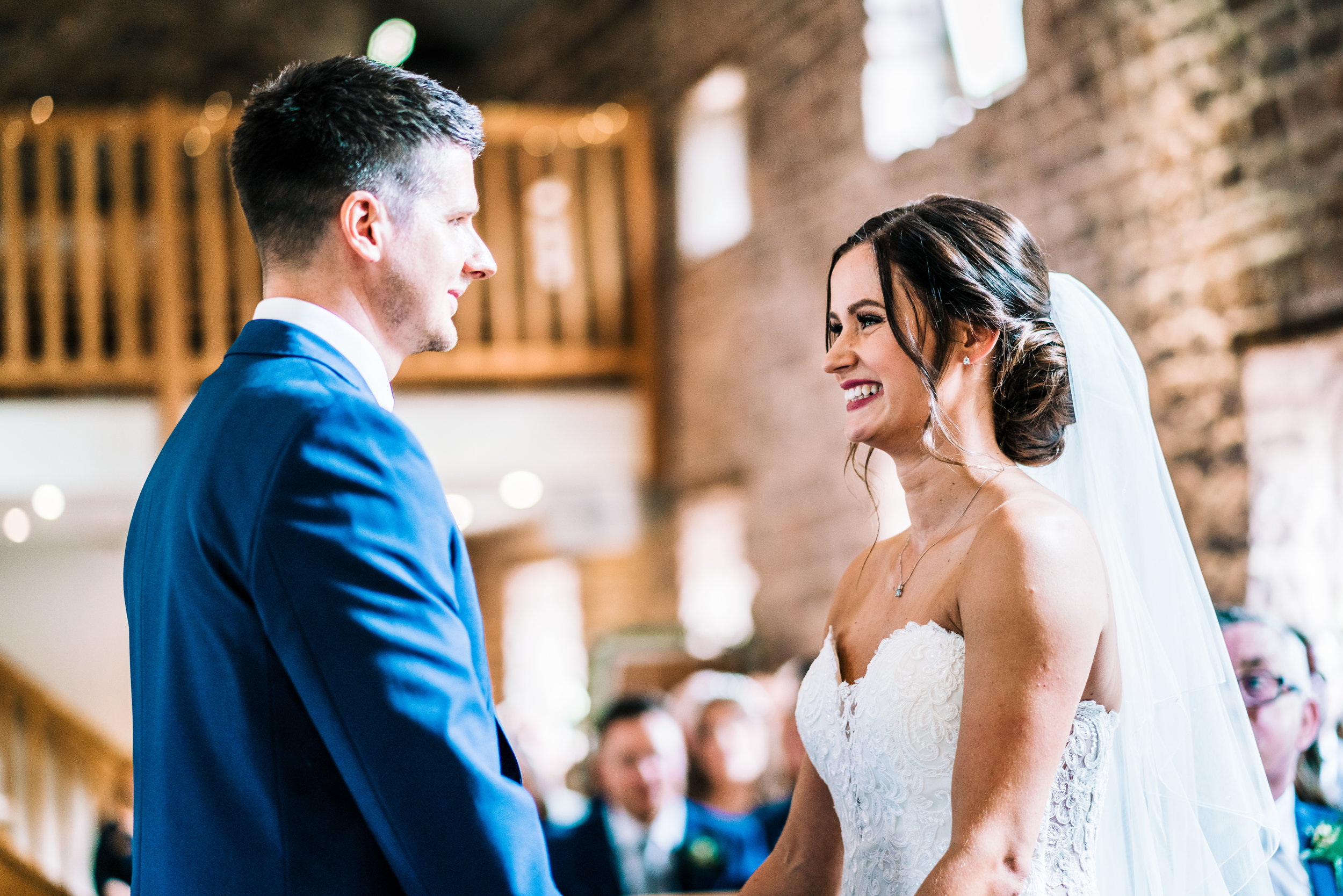 WEDDING CEREMONY AT THE ASHES BARNS VENUE