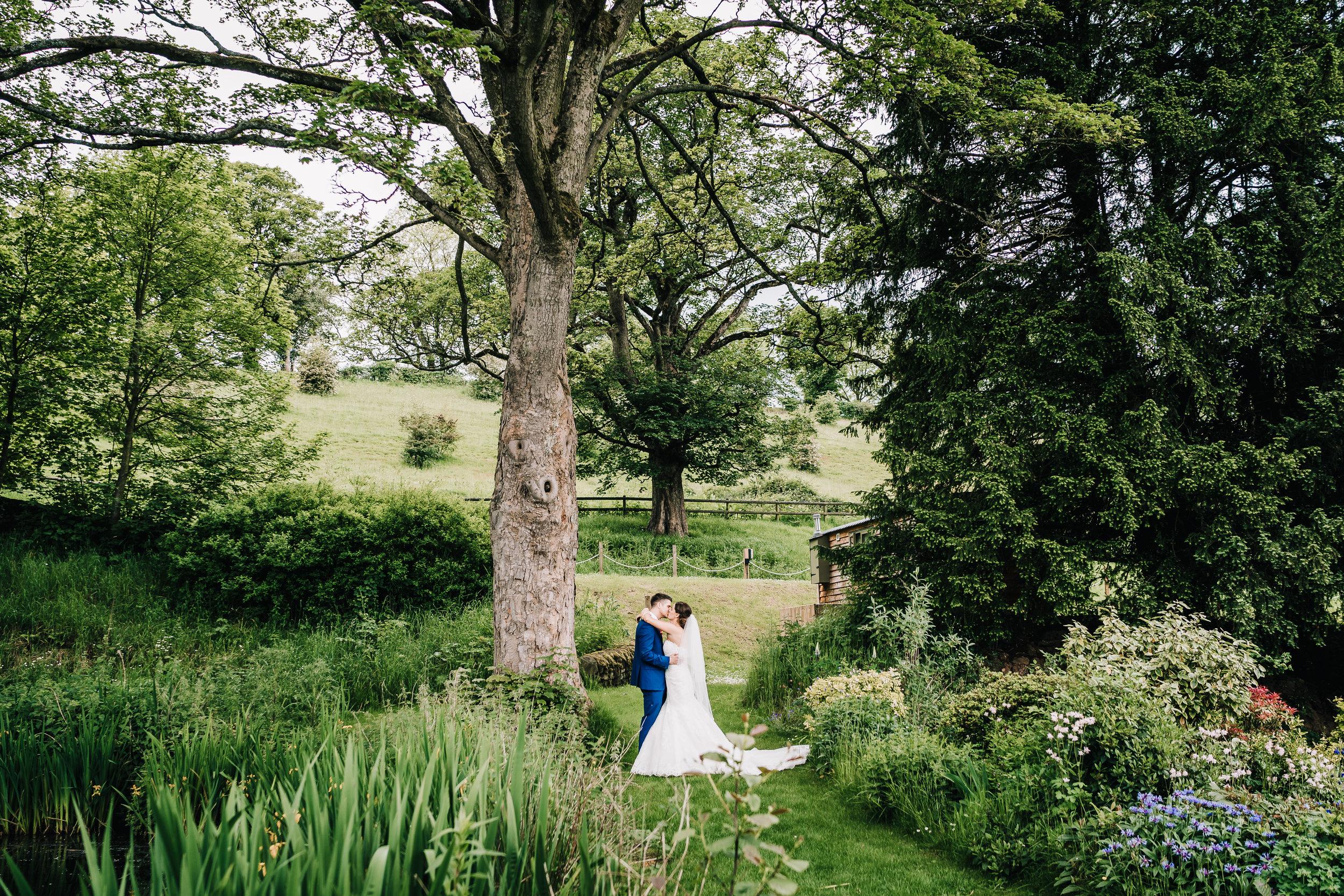 COUPLE PORTRAIT OUTDOORS ENSARB WEDDING VENUE STAFFORDSHIRE