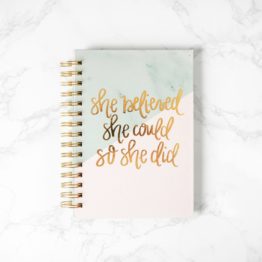 $14.99 SHE BELIEVED SHE COULD SO SHE DID NOTEBOOK