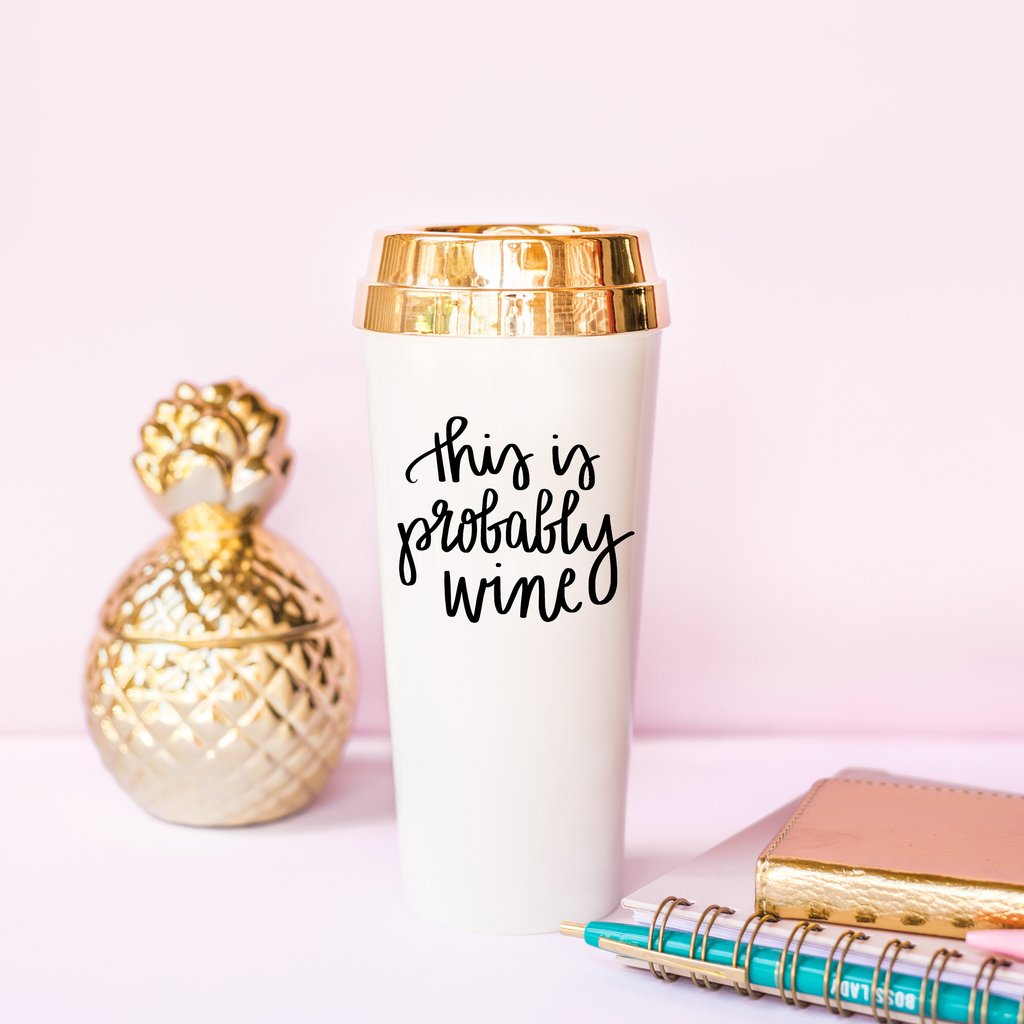 $19.99 THIS IS PROBABLY WINE TRAVEL MUG