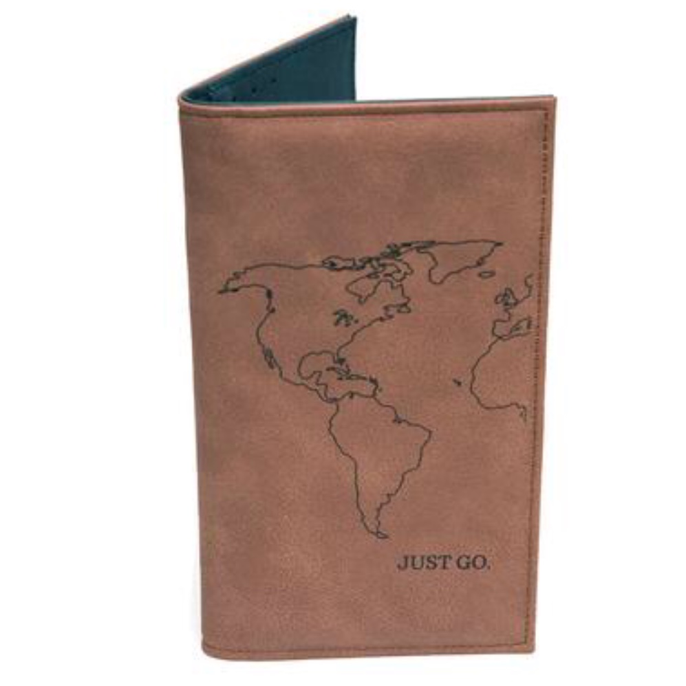 $43.99 VEGAN LEATHER PASSPORT WALLET