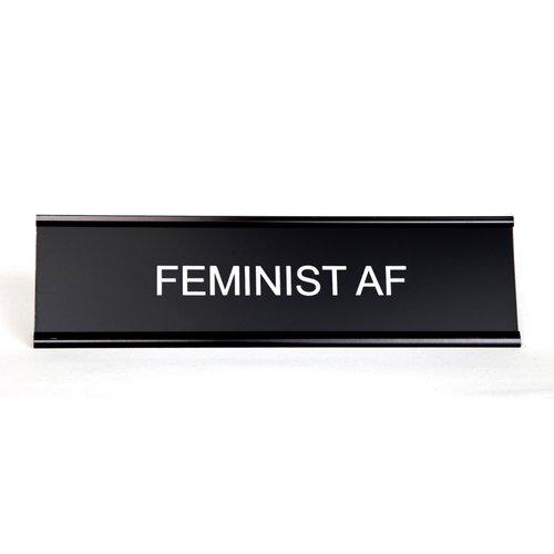 $27.99 FEMINIST AF DESK PLATE