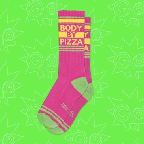 $11.99 BODY BY PIZZA SOCKS