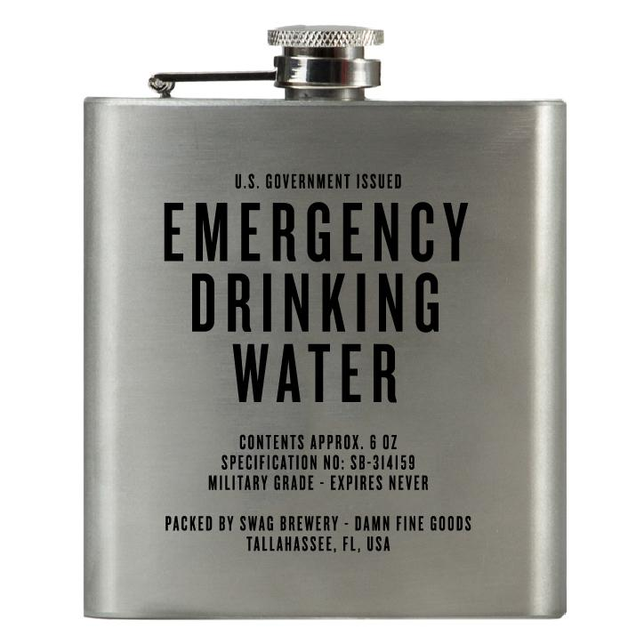 $19.99 EMERGENCY DRINKING WATER FLASK