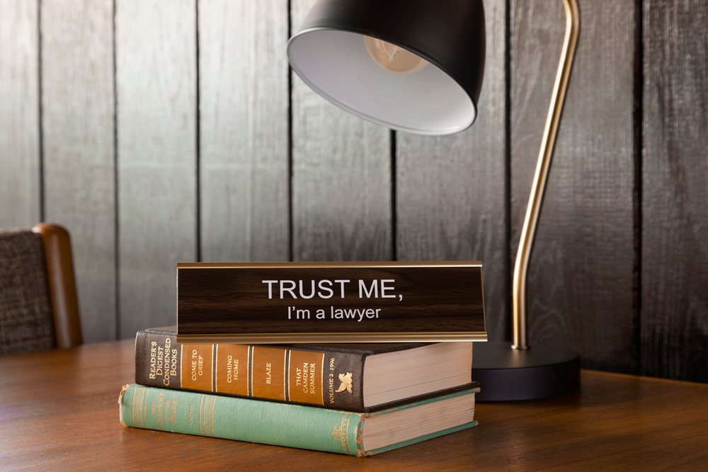 $27.99 TRUST ME, I'M A LAWYER NAME PLATE