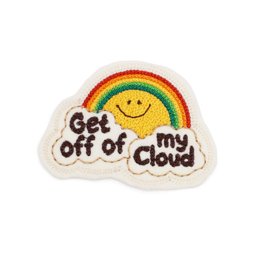 $12.99 GET OFF OF MY CLOUD RAINBOW PATCH