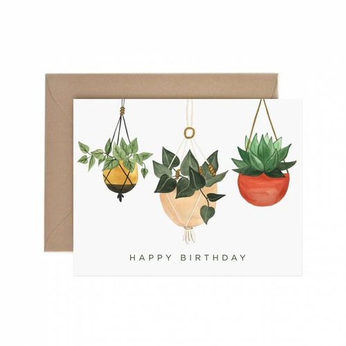 $4.49 HANGING PLANTERS BIRTHDAY CARD