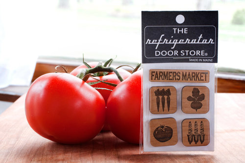 $9.99 FARMER'S MARKET WOOD MAGNET SET