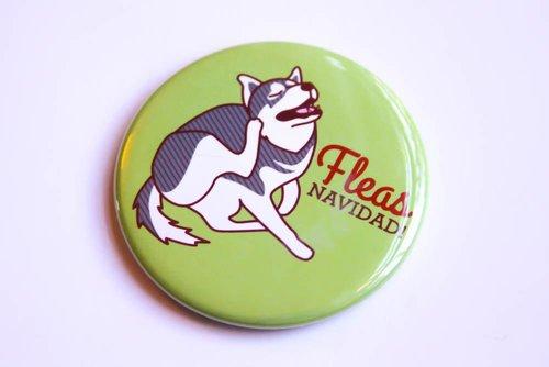 $3.49 FLEAS NAVIDAD HUSKY DOG MAGNET