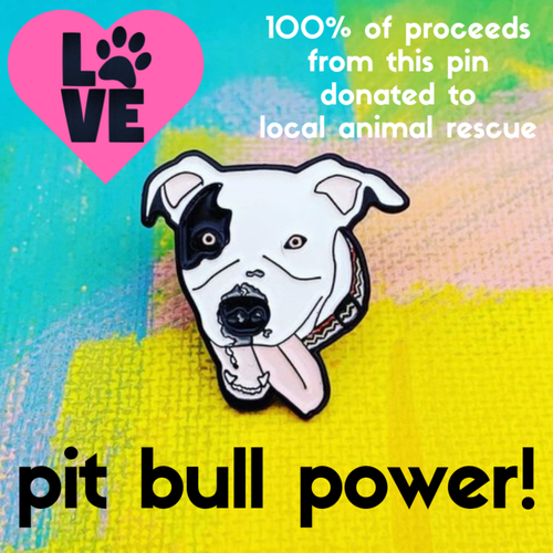 $9.99 DAISY THE PIT BULL CHARITY PIN