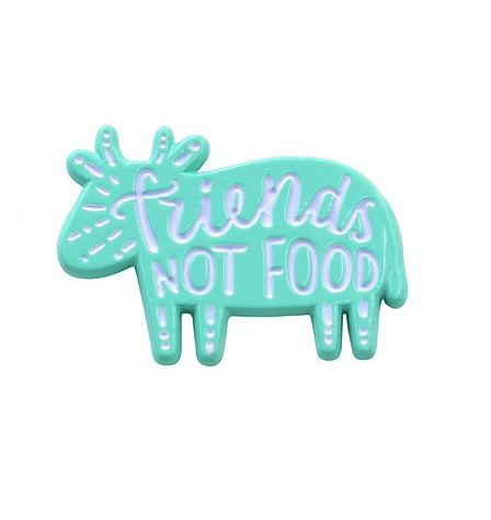 $9.95 FRIENDS NOT FOOD PIN